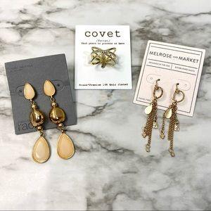 Nordstrom Jewelry Bundle Earrings Ring